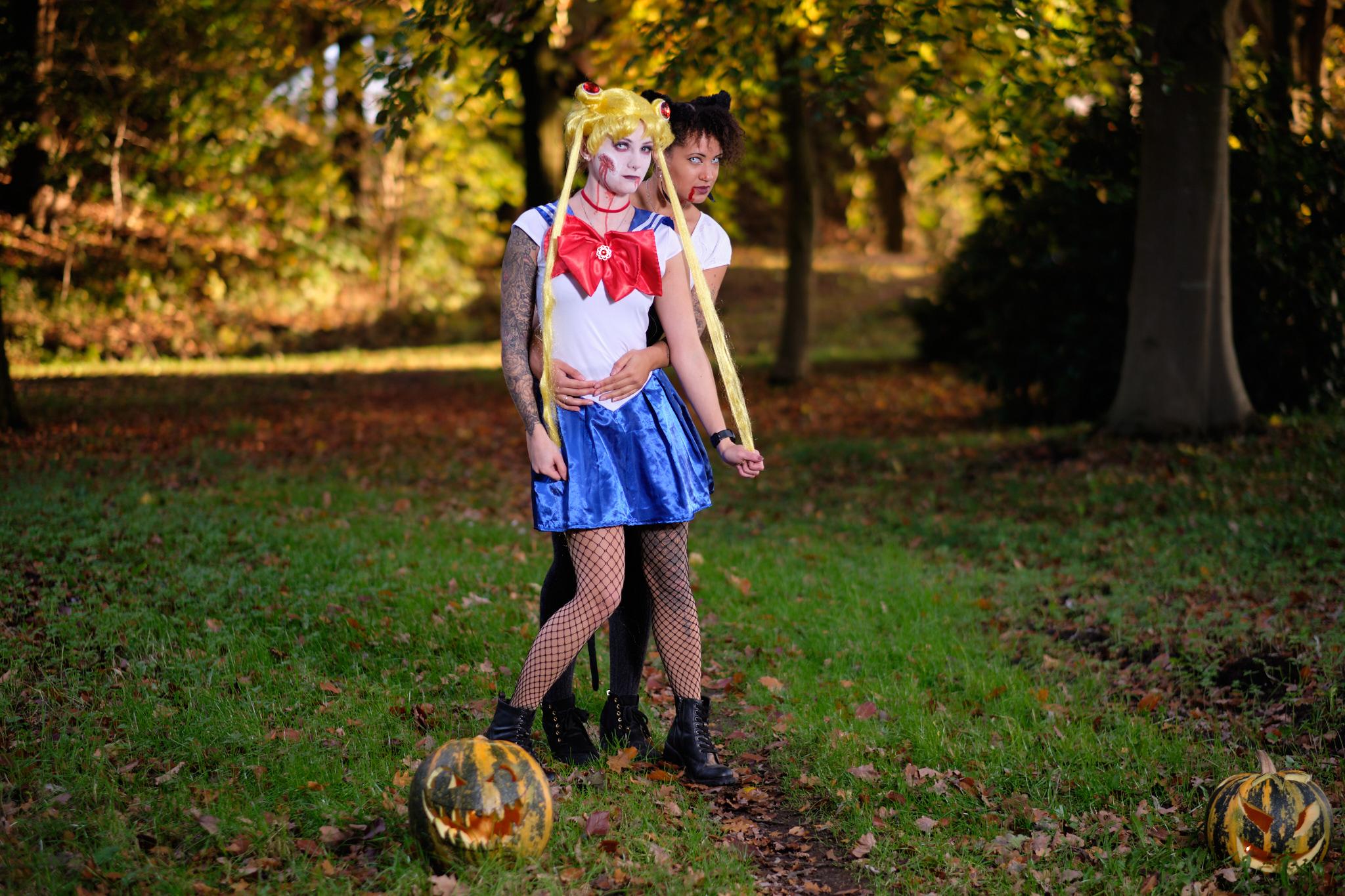 Den Sonntag mit Halloween